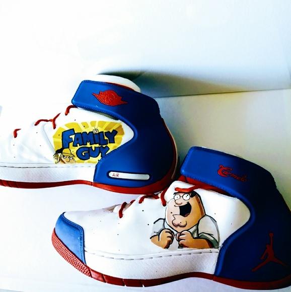 be9a013793d12 Custom Family guy Air jordon shoes sneakers NWT
